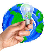 Lamp in hand — Stock Photo
