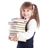 Girl is doing homework — Stock Photo