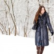 A woman is in the winter park — Stock Photo #4582364