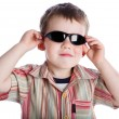 A boy in the sunglasses — Stock Photo