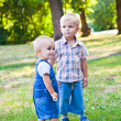 Royalty-Free Stock Photo: Brothers are staying in the park