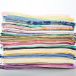 A stack of colored towels — Stock Photo #4999777