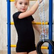 A girl is engaged in acrobatics — Stock Photo #5051804
