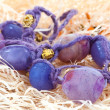 Purple beads. Jewelry — Stock Photo