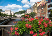 Water canal in Karlovy Vary — Stockfoto