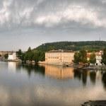 View from Charles bridge on river Vltava in Prague — Stock Photo