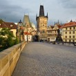 Charles bridge  at sunrise - Foto Stock