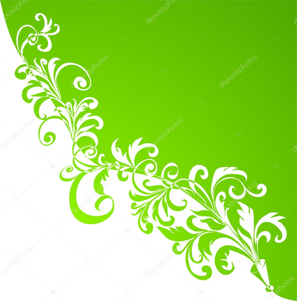 Floral ornament, Element for design,  vector illustration — Stock Vector #2765088