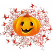Vector halloween pumpkin — Stock Vector #3864961
