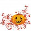 Stock Vector: Vector halloween pumpkin