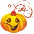 Vector halloween pumpkin — Stock Vector #3864976