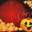Stock Vector: Vector halloween background