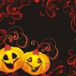 Vector halloween background — Stock Vector