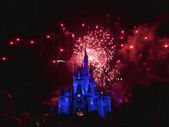 Fuegos artificiales de disney — Foto de Stock