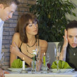Conflict situation in restaurant — Stock Photo
