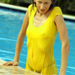 Woman in wet dress — Stock Photo