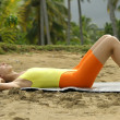 Fitness at the beach — Stock Photo