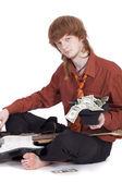 Jobless musician — Stock Photo
