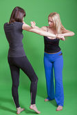 Woman self defence — Stock Photo