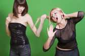 Dispute between girls — Stock Photo