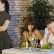 Jealousy scene in restaurant — Stock Photo