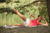 Sport and recreation outdoors — Stock Photo