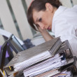 Frustration by work - Foto Stock
