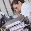 Frustration by work - Stockfoto