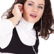 Stock Photo: Womlistening mp3