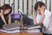Stress by the work — Stock Photo