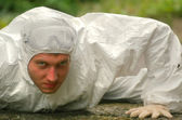 Worker in protective wear — Stock Photo