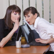 Gossip in office — 图库照片