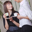 Women taking coffee break - Foto Stock