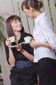 Women taking coffee break — Stock Photo