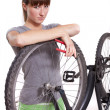 Defect bike - Stockfoto