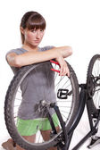 Defect fiets — Stockfoto