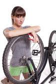 Defekt bisiklet — Stok fotoğraf