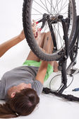 Bike repair — Stock Photo