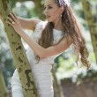 Stock Photo: Young bride outdoor