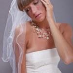 Crying bride — Stock Photo