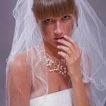 Bride in tears — Stock Photo