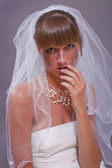 Bride in tears — Stock Photo