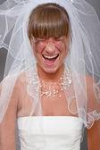 Screaming bride — Stock Photo