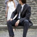 Romantic wedding couple — Stock Photo #3547545