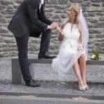 Man holding bride hand — Stock Photo #3547552