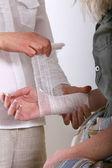 Applying bandage — Stock Photo
