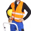 Happy manual worker — Stock Photo