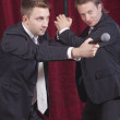 Two comedians acting — Stock Photo