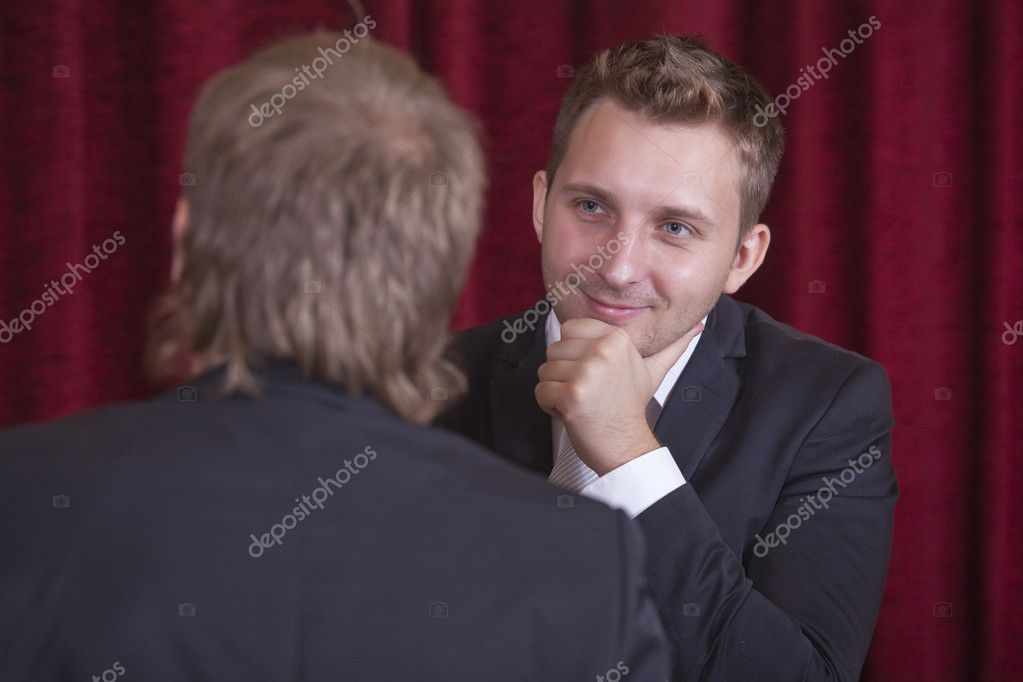 Two comedians playing spectacular on the stage — Stock Photo #3694447