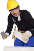 Happy bricklayer — Stock Photo